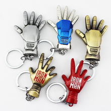 Retail 1pcs Super Hero The Avengers Iron Man Metal Pendant Iron Man's Hands Keychain Free Shipping(China)