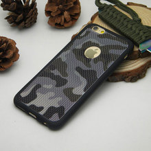 Military Camouflage case for iPhone 6 6s Plus 7 Plus silicone TPU Breathable Mesh Radiating soft Skin covers for Men