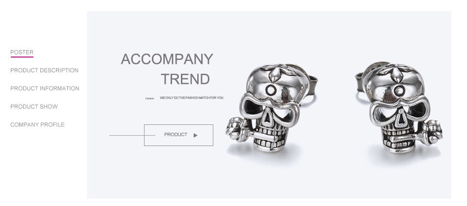 925-Sterling-Silver-Stud-Skull-Earrings-Vintage-Silver-Party-Unisex-Prevent-Allergy-Flower-Earrings-Say-You-T07