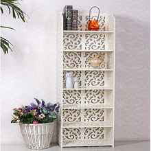 Modern European Style Wood Bookshelf Bedroom Luxurious Engraving Shelf  The Best Gift To Your Children