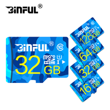 BiNFUL fashion memory card TF Card 16GB 32GB 64GB ocean blue design 4gb 8gb Mini SD Card memory stick cartao de memoria gift(China)