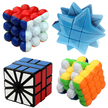 Five-pointed Star Cube Puzzles & Magic Cubes Round Beads 3x3x3 4x4x4 Square-2 SQ2 Cubo(China)