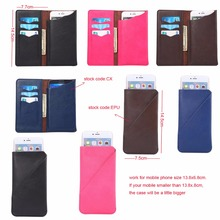 Synthetic Leather Mobile Phone Case Hand Card Wallet Pouch For iPhone 6/7,For Galaxy S4/S3/J2/A3 (2017)/A3(2016),Oppo Mirror 3(China)