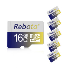 Reboto Memory card 32GB 64GB class 10 micro sd card 4GB 8GB 16GB MicroSD Card TF flash USB Card for mobile phone(China)