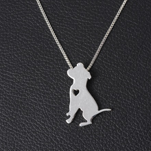 Silver Plated Dog Pendant Necklace Heart Dog Breed Charm Personalized Pets Puppy Adopt Rescue Christmas Gift Neacklace Dog Lover