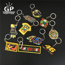 GPFORTYSIX New Keychain VR46 the doctor Valention Rossi 46 team fans souvenir gift MOTOGP 3D PVC Rubber keyring llavero keychain(China)