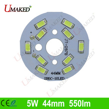 5W 44mm 550lm LED PCB with smd5730 chips installed, aluminum plate base for bulb light, ceiling light, LED lamps