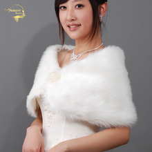 Wedding Bolero Outerwear Accessories Urged Wrap Bride Formal Winter Cape Bride Fur Shawl Wedding Jackets Wrap OJ00169