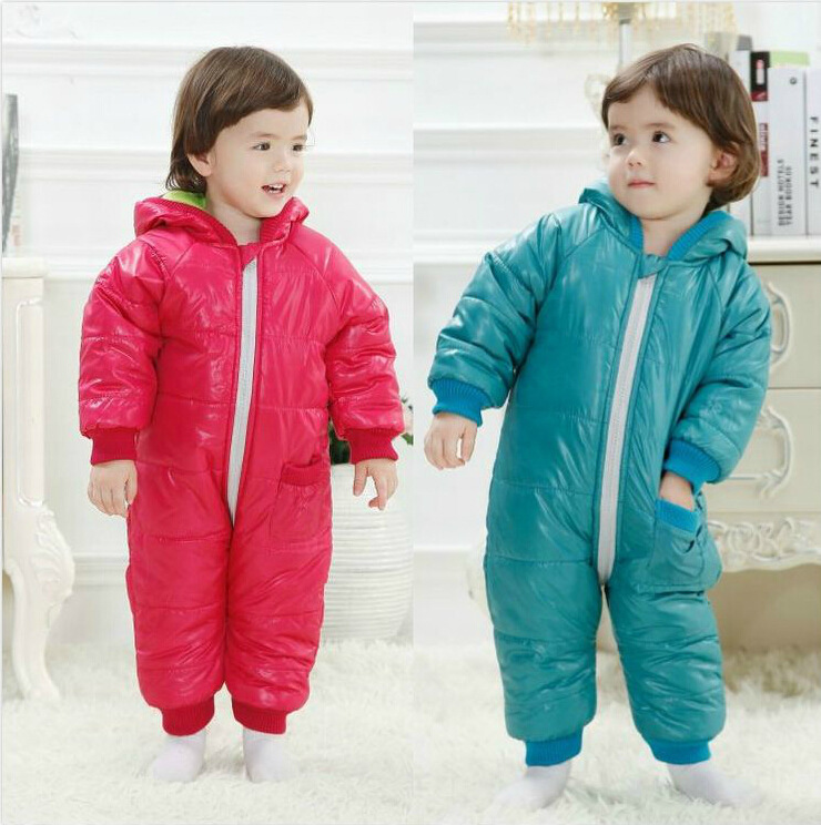 High Quality Fashion Baby Rompers Winter Thick Cotton Boys Costume Girls Warm Clothes Kids Jumpsuit Children Outwear Baby Wear<br><br>Aliexpress