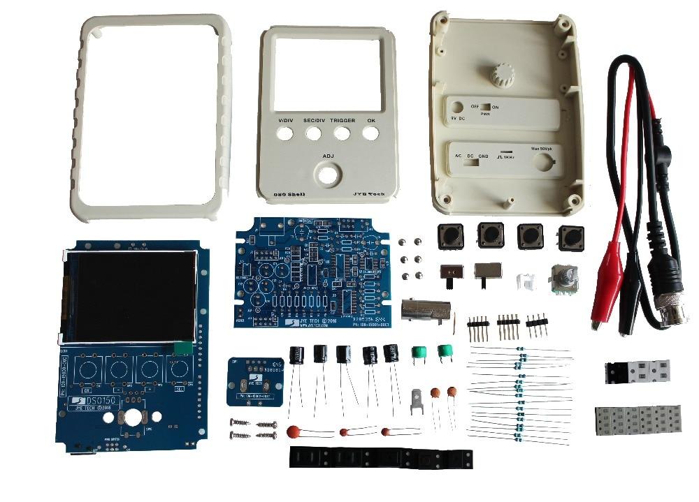 SHINA DSO Shell Oscilloscope DIY Kit,DSO138 Upgraded for e-Learning Training DIY STM32 Kit<br>