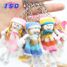 A Pair Car Styling Key Ring Doll Keychain Keyring For Toyota Fiat Land Rover Skoda LADA Mazda Renault Subaru BMW VW Random Color(China)