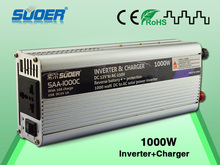 Suoer  Two In One Charger Inverter 1000W 12V 220V inverter with 10A battery charger(SAA-1000C)