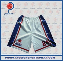 Custom Design quicky dry fabric Boys Team basketball shorts