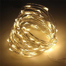 New 100 PCS LED Battery Powered Copper Wire Fairy String Light Christmas Waterproof Christmas Lamp Lights For Home Garden Decor(China)
