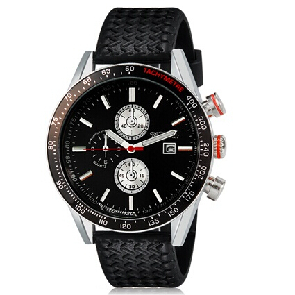 WeiYaQi Men Fashion Analog Quartz Large Dial Wrist Watch with Calendar sports watches Rubber Band<br><br>Aliexpress