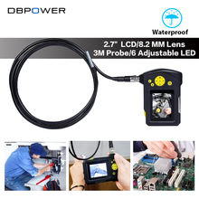 "DBPOWER 2.7"" LCD Surveillance Camera USB Endoscope 8.2 mm 3M Tube Video Inspection Camera Borescope Zoom 360 Degree Rotation DVR"