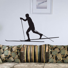 EHome Skiing Wall Decals Vinyl Removable Home Decor Wall Stickers Skier Adhesive Stickers For Kids
