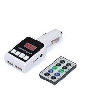 2016 Brand New MP3 Player Wireless FM Transmitter Modulator Car Kit USB SD MMC LCD Remote Comfortable Natural