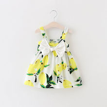 Baby Girls Dress Summer Sleeveless Cute Bebes Bow Party Dress Little Princess Toddler Kids Clothes 0-3Y(China)