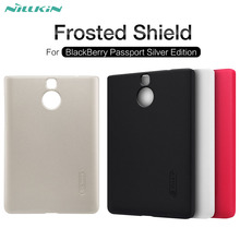 NILLKIN Super Frosted Shield matte hard back cover case For Blackberry Passport Silver Edition 4.5 inch with screen protector(China)
