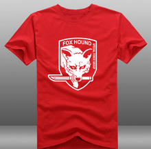 Mens Casual MGS Metal Gear Solid V 5 The Phantom Pain Fox Hound Logo Short Sleeve T-shirts Tees Novelty Tops Clothing(China)