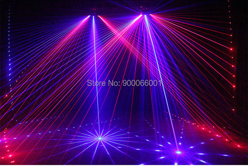 DMX disco Scanner Laser Stage Light club Dance pattern effect show LED beam Projector for home party (4)