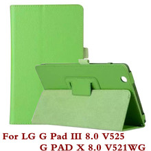 For LG G Pad 3 8.0 V525 / GPad X 8 V521 V521WG / GPad3 Pad3 PadX V 525 521 Tablet Case Fashion Bracket Flip Leather Shell Cover(China)