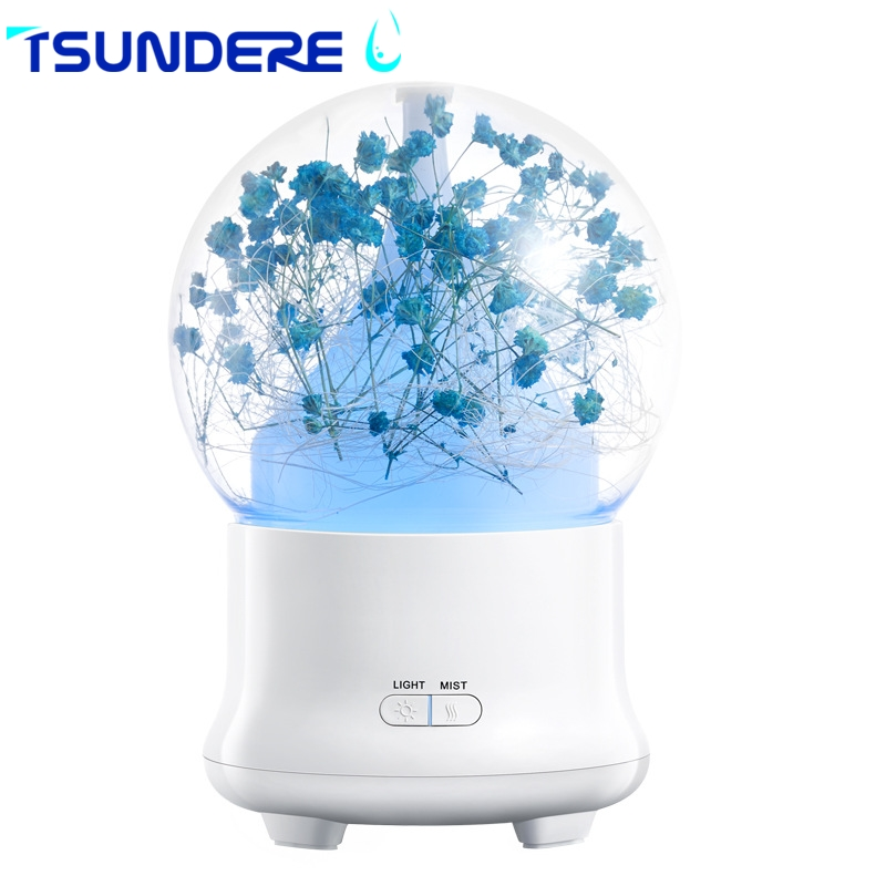 TSUNDERE L USB mini humidifier 100ML Eternal flower Aroma Diffuser  Cool Mist Humidifier For the bedroom car baby yoga<br>