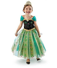 Retail + free shipping!  Girls Princess dress cartoon cosplay girl dress,kids princess dress fancy dress costume