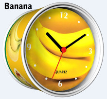 [In Stock] Banana Magnetic Cheap Wall Clocks,Cheap Desk Clocks,Cheap Table Function Clocks in Free Shipping(China)
