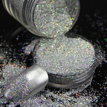 1 Bottle Nail Art Holographic Laser Nail Glitter Rainbow Manicure Chrome Powdered Pigment Ultra Fine Micro Mica Glitter Powder(China)