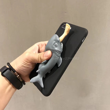 Funny Cartoon 3D Shark Phone Case for Iphone 7plus Animal Foot Cover for iPhone 7 6 6s Plus Soft TPU Back Cover(China)