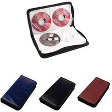 Famous Brand 80 Disc CD Holder DVD Case Storage Wallet VCD Organizer Faux Leather Bag Handbag
