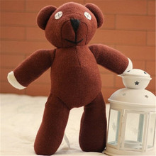 Hot 9'' 23cm Mr Bean Teddy Bear Animal Stuffed Plush Toy Brown Figure Doll Children Kids Bear Toys Gift Free Shipping