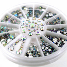 3D Nail Art Decoration  DIY Nail Art Tips Crystal Glitter Rhinestone  white AB Color Acrylic Diamond Drill
