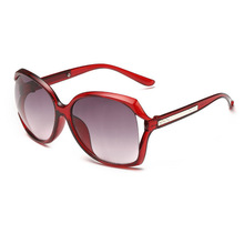 2016 NEW Fashion Hollow Anti-UV400 Sunglasses, Women plastic Eye Sun Glasses, brown red cheap eyeglasses china Gafas Oculos De(China)
