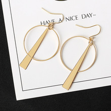 Buy Round Circle Dangle Earrings Triangle Earring Women Jewelry Accessories Gold Silver Color Hollow Drop Tassel Eardrop Pendientes for $1.25 in AliExpress store