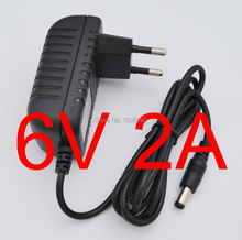 1PCS High quality AC 100V-240V Converter IC power Adapter DC 6V 2A 2000mA 12W Power Supply EU Plug DC 5.5mm x 2.1mm New