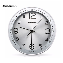 "2016 Brand New Excelvan Silent Wall Clock 12"" Metal Clock Quiet Sweep Movement Clock  Metal frame with HD glass"