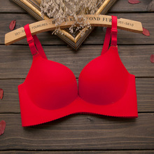Red color sexy seamless bra gather adjustable women bra gather push up bra Wireless Push Up Brassiere Sexy Classic Intimate bra(China)