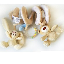 Baby Toys little bear crib revolves around the Bed Strollers Hanging Newborn Baby Educational Music Rattles(China)