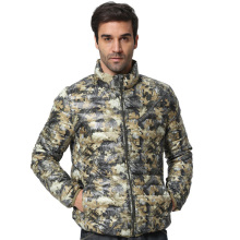 Men down coats Longsleeve stand collar Down Coat Camouflage Men ultralight fashion casual warm down jacket winter Z1078-Euro