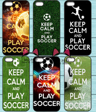 Keep Calm and Play soccer Phone Cover Case For Samsung Galaxy S6 S7 Edge S8 Plus A3 A5 A7 J3 J5 J7 2015 2016 2017 J5 Prime