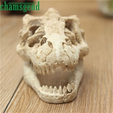 Home Supplies Halloween Aquarium Decorative Resin Skull Crawler Dragon Lizards Decoration drop shipping Wholesale 0524(China)