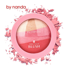 By nanda Brand 3 Colors Blusher Makeup Natural Baked Blusher Powder Palette Charming Blush Improve Color Modified Face 4101