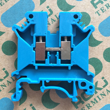 10Pcs Blue Terminal blocks UK5N DIN rail Wiring board connector terminals 4mm square voltage  copper part CE certification