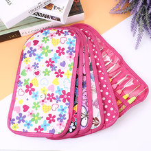 Lady Knitting Crochet Case Hook Holder Nylon Storage Organizer Print Bag