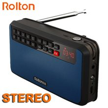 RoltonT60 MP3 Player Mini Portable Audio Speakers 2.1 FM Radio With LED Screen Support TF card Playing Music High LED Flashlight(China)