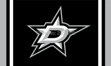 Dallas Stars custom flag 3x5FT NHL Team  banner150X90CM 100D  Polyester  brass grommets custom flag, Free Shipping
