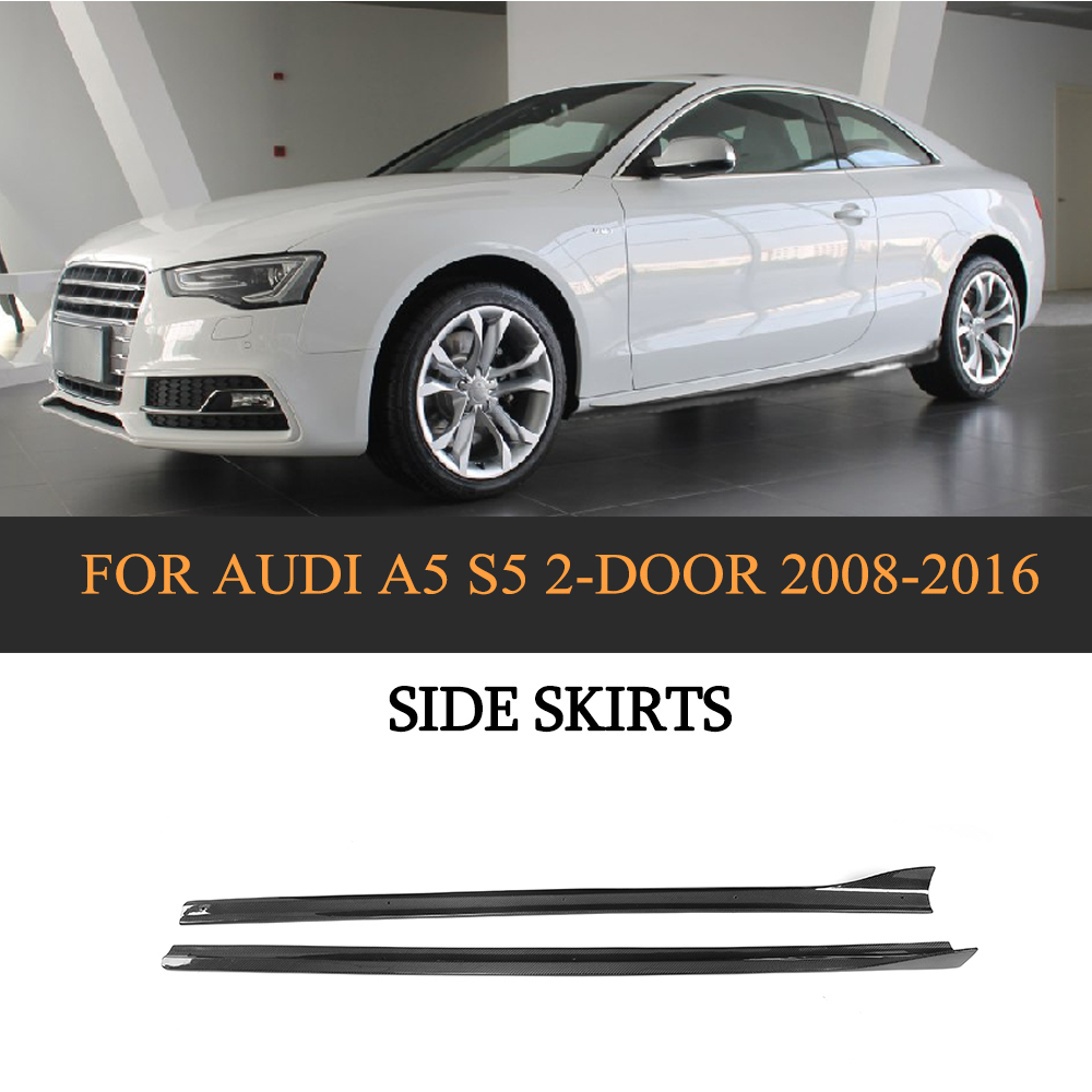 Side Skirt Extention Blades For Audi A4 B9 Sideskirts